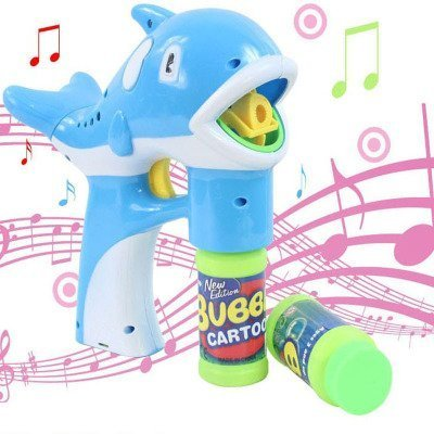 treasure-house Elektrische Dolphin Bubble Gun Musik Licht Blowing Bubbles + Bubble Wasser Gürtel Sword Set Kinder Outdoor-Toys Hot (Licht Gun Bubble)