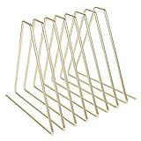 Revistero de Metal Triangular Rainay, 7 Ranuras multifunción, Libros, periódicos y clasificador de...
