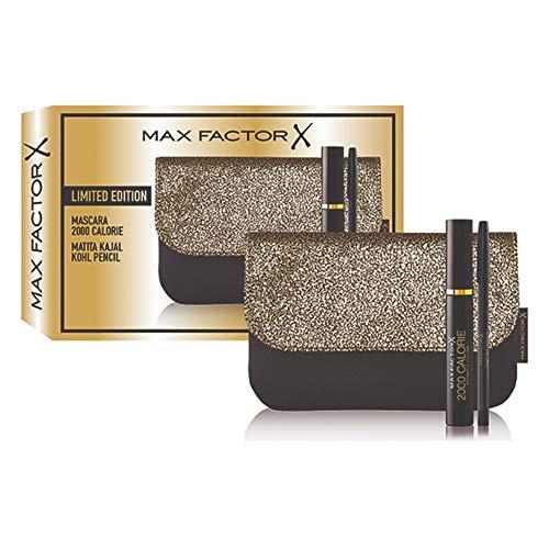 Max Factor confezione regalo Mascara 2000 Calorie, Matita Kajal Kohl Pencil e pochette in omaggio