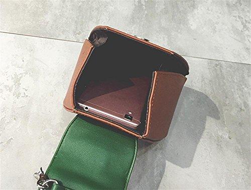 borsa catena YANX signora modo di colore della borsa dell'unità di elaborazione signore spalla Tote BYXin abbigliamento moda PU colore catena borsa borsetta borsa a tracolla borsa a mano , black Blue