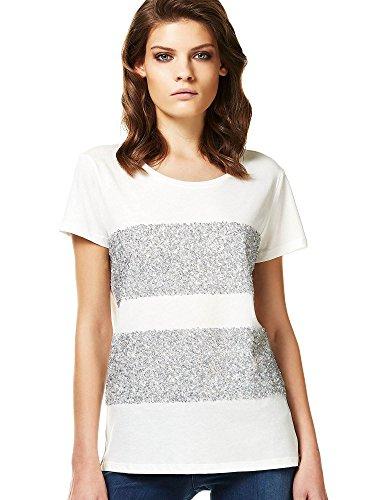 Liu-jo W17156J0231 T-shirt Donna Bianco L