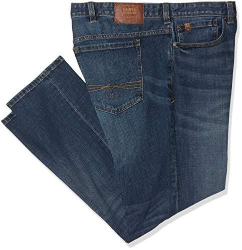 s.Oliver Big Size Herren Straight Jeans 15.901.71.5675 Blau (Blue Denim Stretch 56z4) W46 (Herstellergröße: 46/L30)