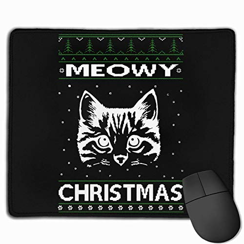 Meowy Christmas Ugly Sweater Tappetini Per Mouse Non Slip Gaming Mouse Pad Mousepad For Workinggaming And Other Entertainment