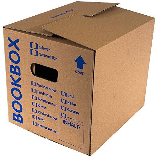 5 Bücherkartons 2 wellig in Profi Qualität Bookbox thumbnail