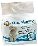 Caniamici Dog Nappy Couches pour chiens - Polymères super absorbants, toujours à sec et sans odeur, en plus de tailles (Medium)