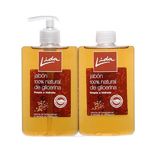 Lida Jabón Líquido Manos Glicerina - Pack 2 x 25