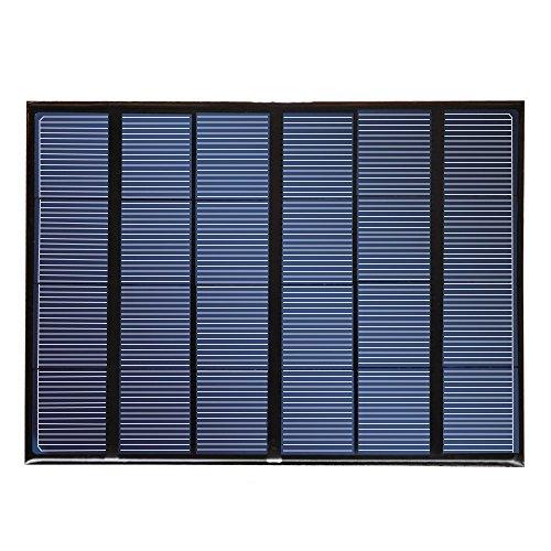 Carga rápida tecnología: Auto detectar Tech proporciona la más rápida velocidad de carga posible hasta 580mA bajo la luz solar directa. La cargador solar 3,5W nuzamas es 21.5-23.5% eficiente, proporcionando suficiente energía para cargar sus disp...