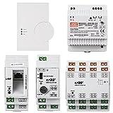Homematic Wired RS485 Smart Home Starter Paket zum Aufbau einer Hausautomation über ein Bussystem. Inhalt CCU2, RS485 LAN Gateway, RS485 Überspannungsschutz, RS485 I/O Modul, Netzteil