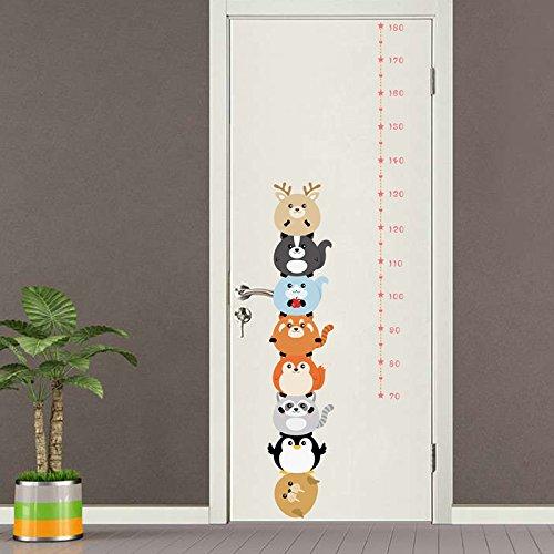 Medidor altura niños pegatina pared puerta vinilo