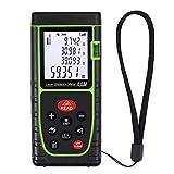 Proster 60M Telemetro Digitale LCD Range Finder 196Ft Distanziometro Retroilluminato Unità m/in/ft Misuratore per Distanza Area Volume Teorema Pitagora - Verde