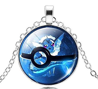 EVRYLON - Collar Pokémon para Mujer y Hombre, diseño de Bola de Pokeball y Trampa, Color Azul por Special4you export.Co. , Ltd