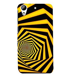 D KAUR Illusion Back Case Cover for HTC 728::HTC 728