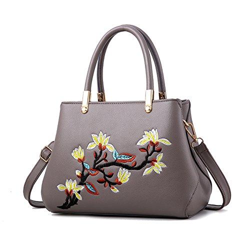 OME&QIUMEI Meine Damen Tasche Handtasche Schulter Messenger Bag Weibliche Frauen Mittleren Alters Khaki
