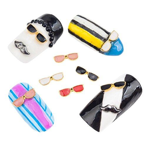 20adornos nail art gafas de sol Colores Cristal Piedras Joyas par VAGA
