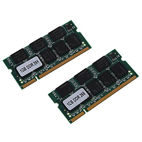 SODIAL(R) 2x 1GB 1G Speicher RAM Memory PC2100 DDR CL2.5 DIMM 266MHz 200-pin Notebook Laptop