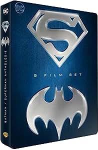 Coffret super héros 9 films : batman, 4 films ; superman, 5 films