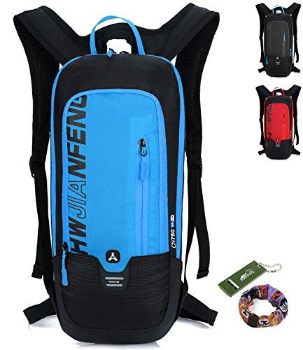 Fahrradrucksack Wasserdicht Professionell Kleiner Outdoor Sportrucksack Rucksack Damen Herren - 10L (blau) -