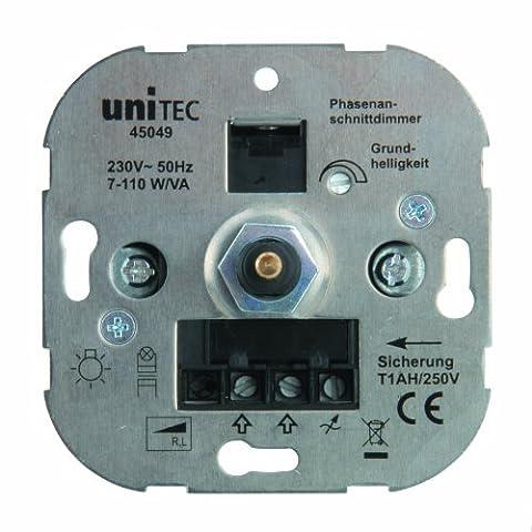 Unitec LED Dimmer, 7-110 W, Phasenanschnitt, 45049