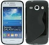 Samsung Galaxy Core Plus G3500 Silikon Hülle Schutzhülle Gel Schutzschale in Schwarz @ Energmix
