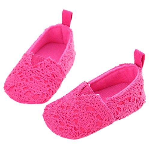 Omiky® Arte Moda Infantil Bebê Criança-girl-macios Único Berço-bebê Sapatos Recém-nascidos Do Rosa Quente