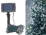 Lunartec Lichterkette aussen: Solar-LED-Lichterkette, 200 LEDs, Dämmerungssensor, warmw, 20 m, IP44 (Solar-LED-Lichterkette Außen)