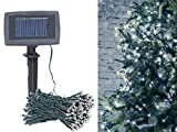 Lunartec Solarkette: Solar-LED-Lichterkette, 200 LEDs, Dämmerungssensor, warmw, 20 m, IP44 (Solar-LED-Lichterkette Außen)