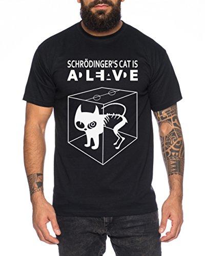 Schroedingers Katze Sheldon Nerd Herren T-Shirt, Farbe:Schwarz;Größe:XXL