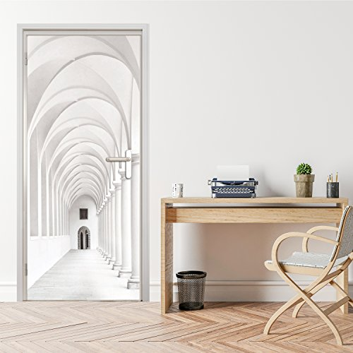 photo-wallpaper-door-mural-purely-arcade-92-x-202-cm-wallpaper-sidewalk-hallway-decodeals