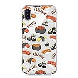 Inonler Japanisches Sushi, Lachs, köstliche japanische Küche, transparentes, weiches TPU-Silikon Muster hülle für iphone X,Orange Hülle
