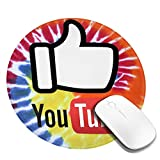 You are Good YouTube Logo Mousepad Tappetino per mouse da gioco in gomma antiscivolo Tappetini per mouse rotondi per computer portatile