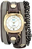 La Mer Collections Damen LMMULTICW2001 Chain Wrap Collection Aperitif Armbanduhr