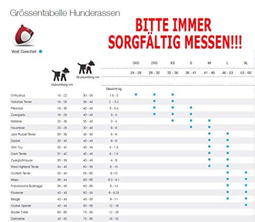 CURLI Brustgeschirr Plush Vest AIR-MESH brown für Hunde S (35 – 40 cm) - 4