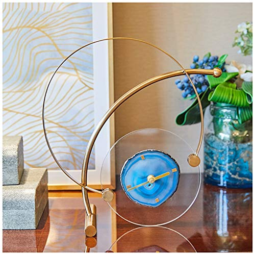 SMC Stille Tischuhr der kreativen Mode europäische Wohnzimmerschlafzimmerdekorationuhren Moderne Persönlichkeitsuhr