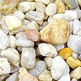 MGS SHOP Dekokies Zierkies Garten Kies Splitt - Farbe wählbar (5 kg, Mediterran gelblich)
