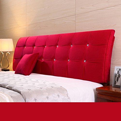 Dossier De Chevet Pure Color Bedhead Soft Protector Sac doux Double lit de couchage oreiller ergonomique Design Bedside Big Oreiller lombaire 62 * 160cm (Couleur : F)