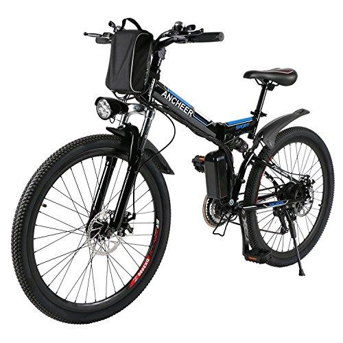 Ancheer Faltbares E-Bike Schwarz