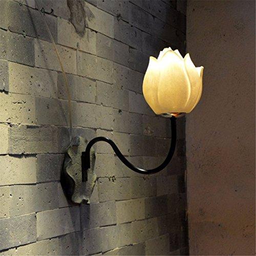 JJZHG Wandleuchte Wandlampe Wasserdicht Wandbeleuchtung Weinlese Lotus Flower Wall Lamp führte Hotel-Restaurant-Korridor-Nachttischlampe,C-Art beinhaltet: Wandlampe,stoere wandlampen (Restaurant, Cart)