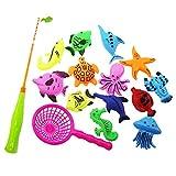 Bad Spielzeug Angeln Spiel mit schwimmenden Fisch und Angelruten & Fischnetz