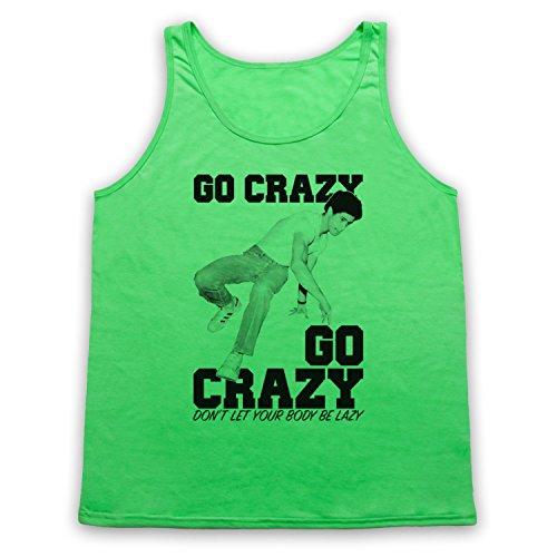 Crazy Legs Go Crazy Breakdancing Slogan Tank-Top Weste Neon Grun