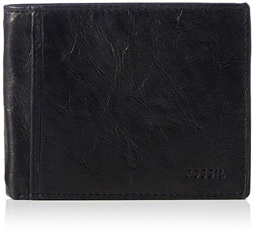 Fossil Herren Ingram Geldbörse, Schwarz (Black), 1.9x9.5x11.4 cm