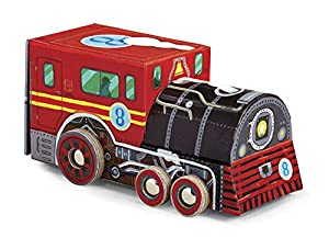 """Crocodile Creek-Puzzle en Caja diseño de Tren de Locomotora (48Piezas), 8"""""""