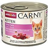 animonda Carny Kitten Katzenfutter, Nassfutter Katzen bis 1 Jahr, verschiedene Sorten, 6 x 200 g