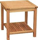 colourliving Beistelltisch Holz massiv Akazienholz Gartentisch Tisch 50x50x50 cm