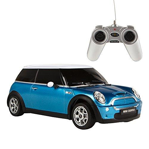 Rastar - Coche teledirigido 1:18 Mini Cooper, color azul, 1 (ColorBaby 85202)