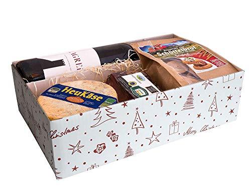 (Geschenkkorb mit Südtiroler Wein und Südtiroler Spezialitäten)