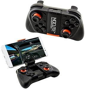 Mocute 050 Wireless Bluetooth Gaming Controller | Game Joystick für 3D VR Brille / Virtual Reality Glasses mit ausklappbarer Handy Halterung