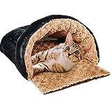 Taoking Katzenhöhle und Bett für Große Katzen Heizung Pu Leder