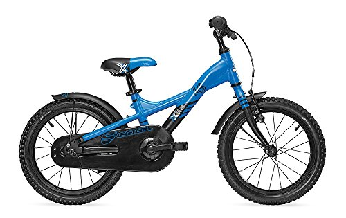 S\'COOL Kinder XXlite Alloy 16 Kinderfahrrad, Blue/Black Matt, Zoll