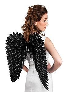 Boland 52820 - alas de ángel esplendor, alrededor de 57 x 62 cm, un tamaño, negro