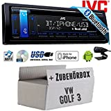 VW Golf 3 III - JVC KD-R881BT - Bluetooth   CD   MP3   USB   Android   iPhone Autoradio - Einbauset